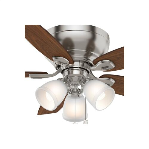 Durant 3 Light Low Profile with 3 Lights 44 inch - Brushed Nickel