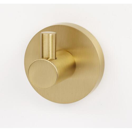 Contemporary I Robe Hook A8380 - Unlacquered Brass