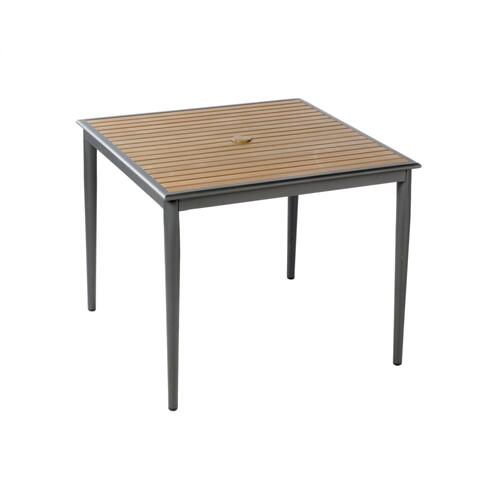 "Oden 36"" Sq Alum/Polywood Dining Table w/ umbrella hole"