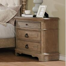 Piraeus 296 3 Drawers White Wash Night Stand