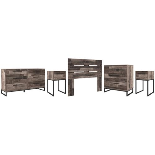 Full Panel Headboard With Dresser, Chest and 2 Nightstands