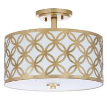 Cecily Leaf Trellis 3 Light 15-inch Dia Gold Flush Mount - Gold
