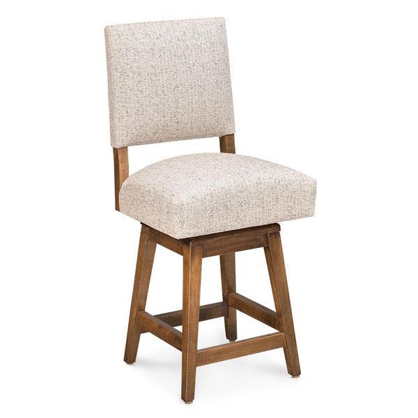 "See Details - Cornelia Swivel Barstool, 30"" Seat Height / Fabric Cushion Seat"