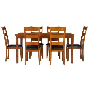 7-piece Dining Table Set, Cherry