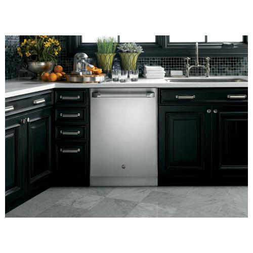 GE Cafe Series Stainless Interior Built-In Dishwasher with Hidden Controls