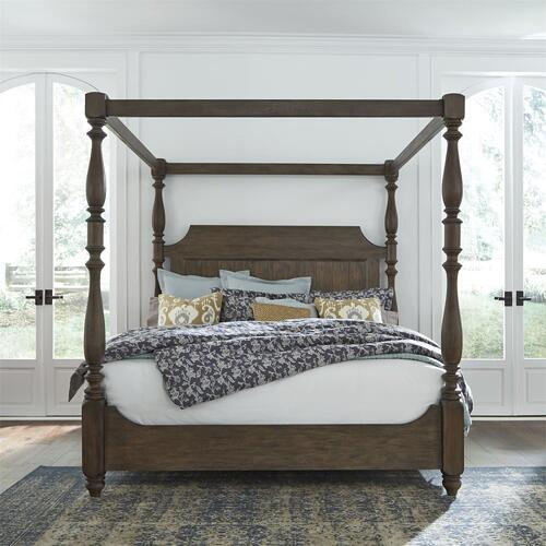 Queen Canopy Bed, Dresser & Mirror, Chest, N/S