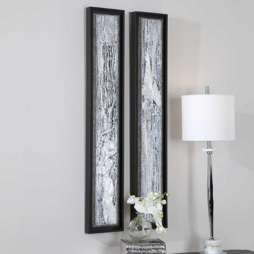 Silver Lining Hand Painted Canvases, S/2