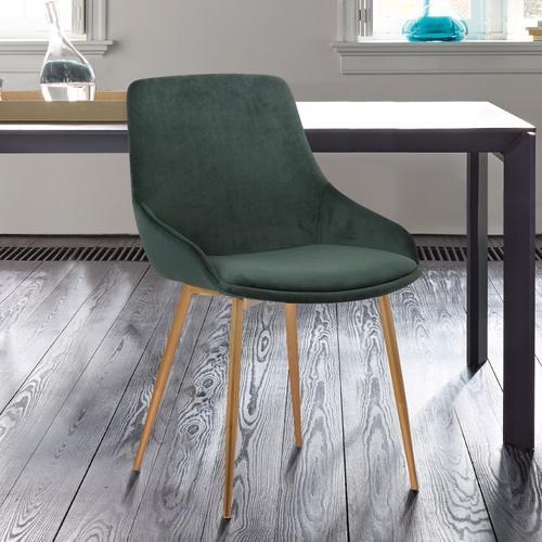 Heidi Green Velvet Dining Accent Chair