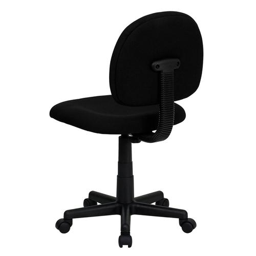 Gallery - Mid-Back Black Fabric Swivel Task Office Chair