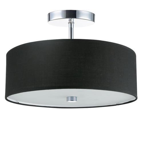 Product Image - 3lt Incandescent Semi-flush PC W/ Black Shade