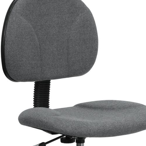 Gallery - Gray Fabric Drafting Chair (Cylinders: 22.5''-27''H or 26''-30.5''H)