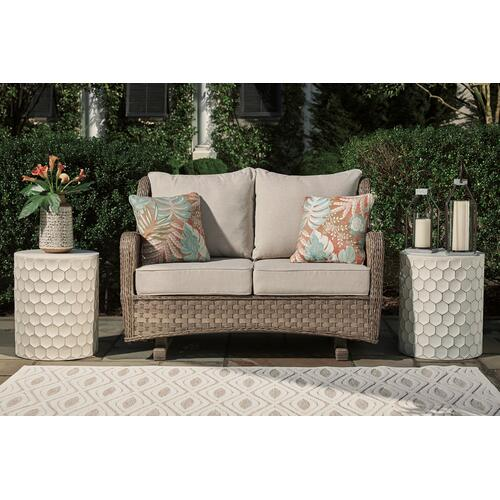 Outdoor Loveseat With Coffee Table