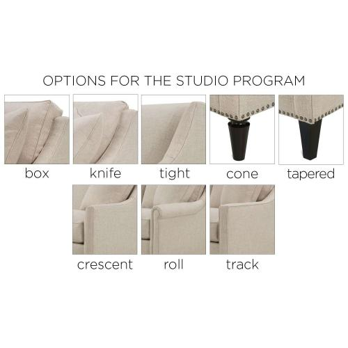 Premium Collection - Studio Collection Track Arm Chair