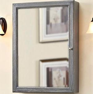 """Rustic Chic 22"""" Medicine Cabinet - Silvered Oak Product Image"""