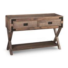 Saratoga Sofa Table X Base Ends w/ 2 Drawers & Shelf
