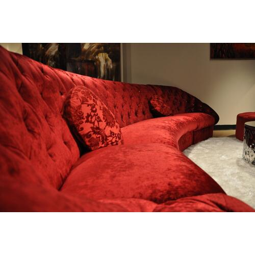 Divani Casa Cosmopolitan Mini - Modern Tufted Fabric Sectional Sofa