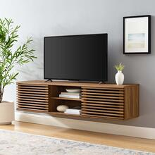 "Render 60"" Wall-Mount Media Console TV Stand in Walnut"
