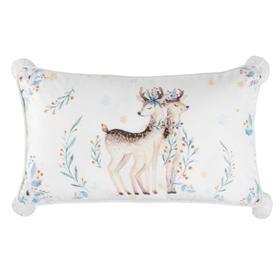 Nutmeg Pillow - White / Brown