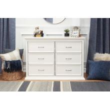 Warm White Foothill-Louis 6-Drawer Assembled Dresser