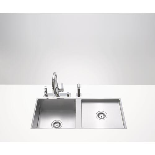 Dornbracht - Dual basin - matte stainless steel