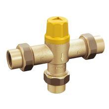 "Commercial Low Flow Thermostatic Mixing Valve 1/2"" IPS with 3/8"" Compression Adapter"