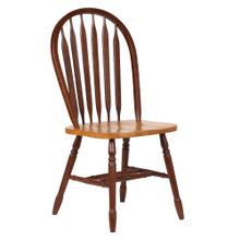"""See Details - Arrowback Dining Chair - Nutmeg with Light Oak Seat (38"""")"""