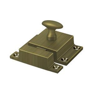 """Deltana - Cabinet Lock, 1-5/8"""" x 2-1/4"""" - Antique Brass"""