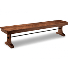 "Glengarry 72"" Pedestal Bench with Wood Seat"