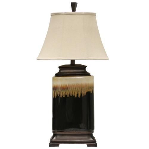 Style Craft - Ceramic Table Lamp With One Of A Kind Glazed Finish