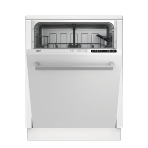 BekoTall Tub White Dishwasher, 14 place settings, 48 dBA, Top Control