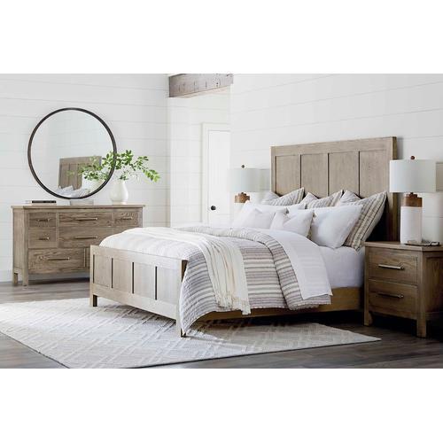Bassett Furniture - Abingdon Oak Queen Panel Bed