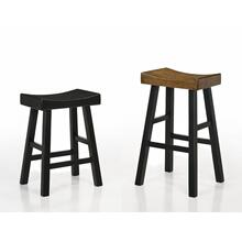 "Aruba Saddle Stool 29""h Rustic Oak"
