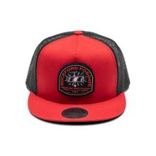 Red Snap-Flex Hat w/ Mirror Graphic