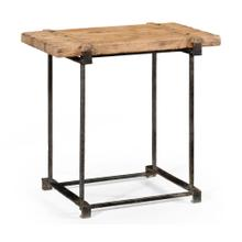 "Plank Top ""Utility"" Side Table"