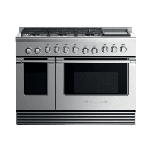 "Dual Fuel Range, 48"", 6 Burners with Griddle, LPG"