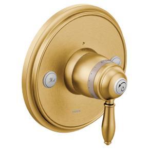 Weymouth brushed gold exacttemp® valve trim