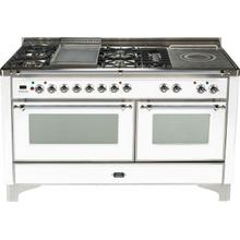 60 Inch White Dual Fuel Freestanding Range