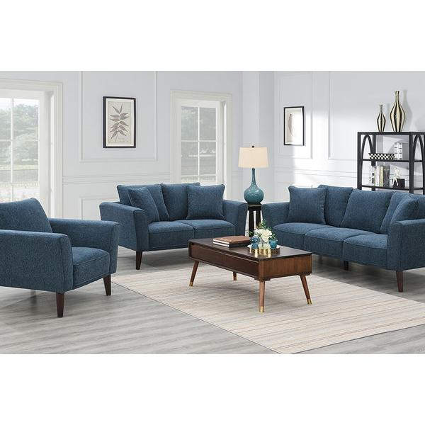 See Details - Percy Blue Sofa, Loveseat & Chair, U5311