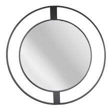 "Metal Frame 36"" Wall Mirror, Black Wb"