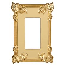 Acanthus Wall Plate - Polished Brass