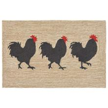 Liora Manne Frontporch Roosters Indoor/Outdoor Rug Neutral