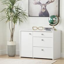 Interface - Storage Unit with File Drawer, Pure White