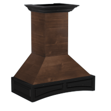 See Details - ZLINE Wooden Wall Mount Range Hood in Antigua and Walnut - Includes Dual Remote Motor (321AR-RD) [Size: 30 Inch, CFM: 1200]