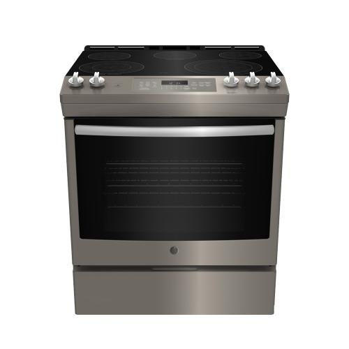 "GE 30"" Slide-In Convection Gas Range with No Preheat Air Fry Slate - JCGS760EPES"