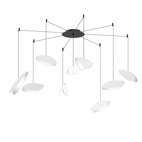 Sonneman - A Way of Light - Papillons LED Pendant [Size=9-Light Swag, Color/Finish=Satin White Shade]