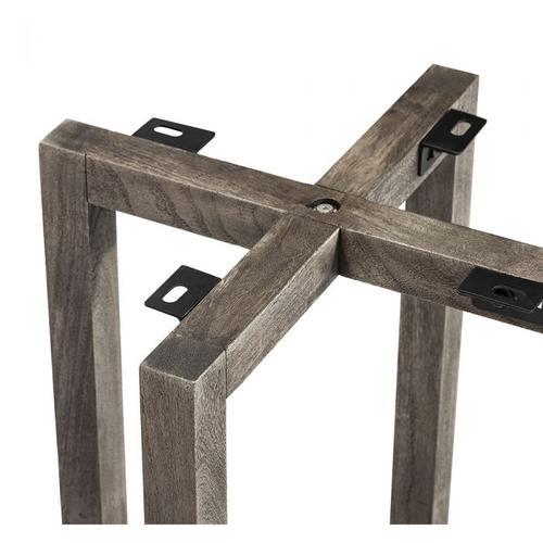 Aspen Geometric Dining Base - Rustic Gre