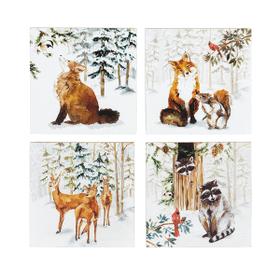 Woodland Christmas Coasters (4 pc. set)