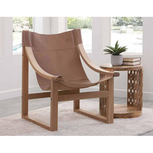 Gallery - Lima Sling Chair, Natural Leather with Natural Frame