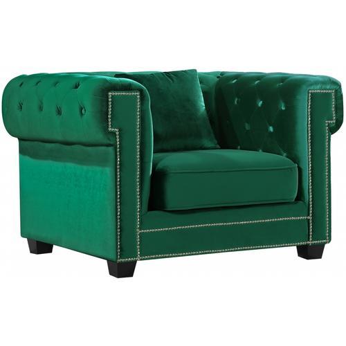 "Bowery Velvet Chair - 46.5"" W x 36.5"" D x 30.5"" H"