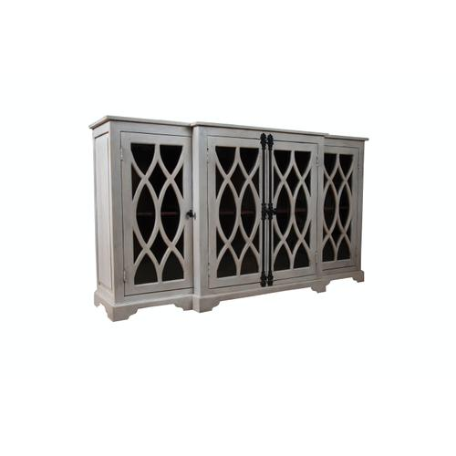 Capris Furniture - Server available in White Wash Finish